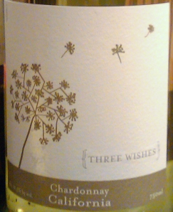 Three Wishes Chardonnay Label ©2011, TalesFromtheTrellis